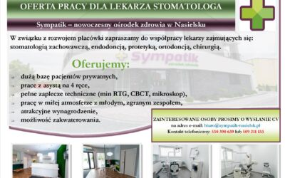 OFERTA PRACY DLA LEKARZA STOMATOLOGA